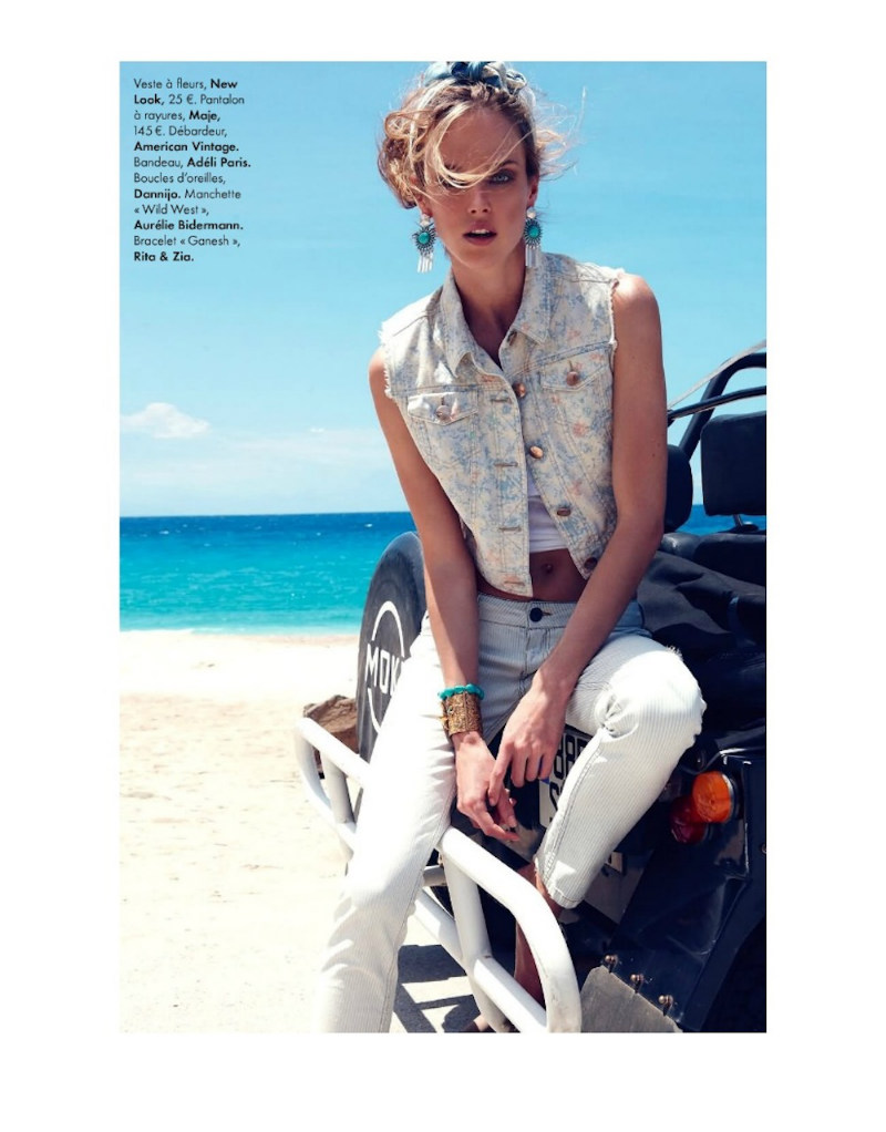 Shannan Click Dons Flirty Summer Looks for Elle France June 2012 by Nagi Sakai