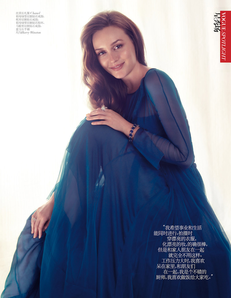 Leighton Meester is Elegant in Shanghai for Vogue China August 2012 by Stockton Johnson