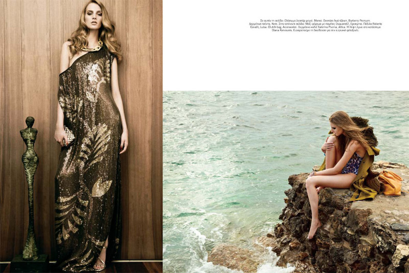Ros Georgiou Stars in Vogue Hellas July 2012 by Thanassis Krikis