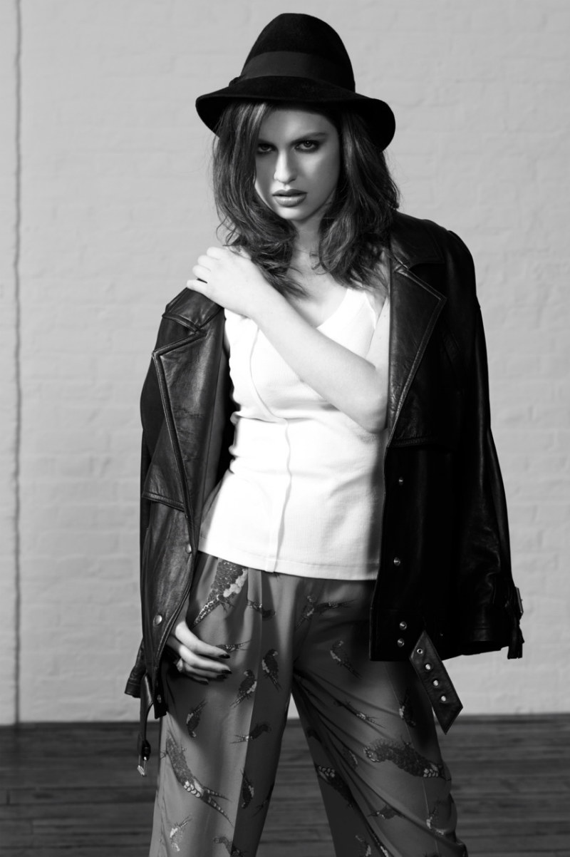 Tali Lennox is Pretty in Black and White for Interview Russia by Eric Guillemain