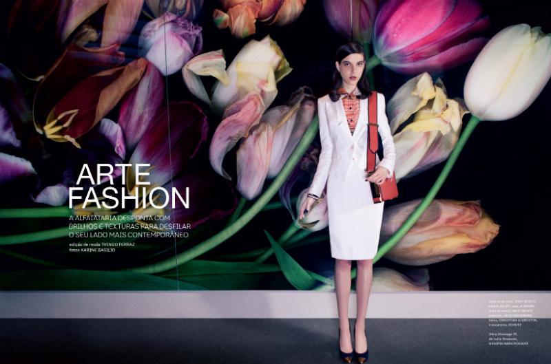 Tati Cotliar Dons Contemporary Tailoring in i Magazine by Karine Basílio