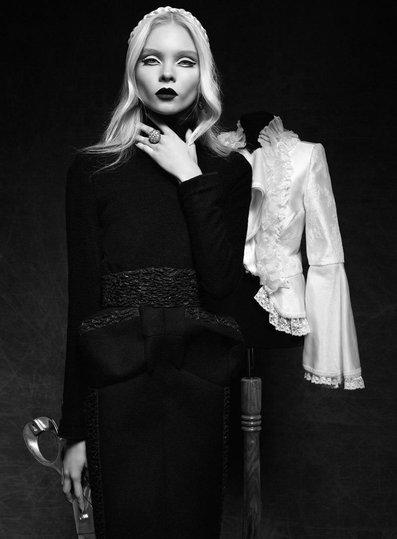 Anna Gerasimova is Hauntingly Beautiful Lensed by Koray Parlak for Elele Magazine