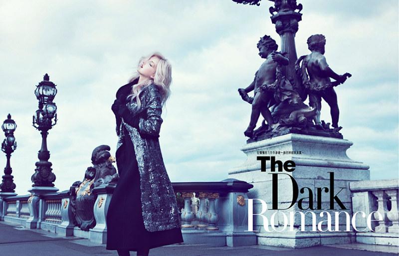 Iris Egbers is Darkly Romantic for Harper's Bazaar Hong Kong September 2012 by Denise Boomkens