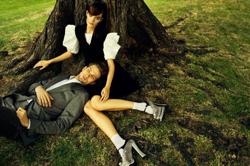 Nikolay Biryukov Photographs a Love Story for Elle Ukraine September 2012