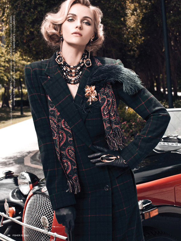 Danny Cardozo Lenses Valentina Zelyaeva in Elite Style for Fisher Island Magazine Fall 2012