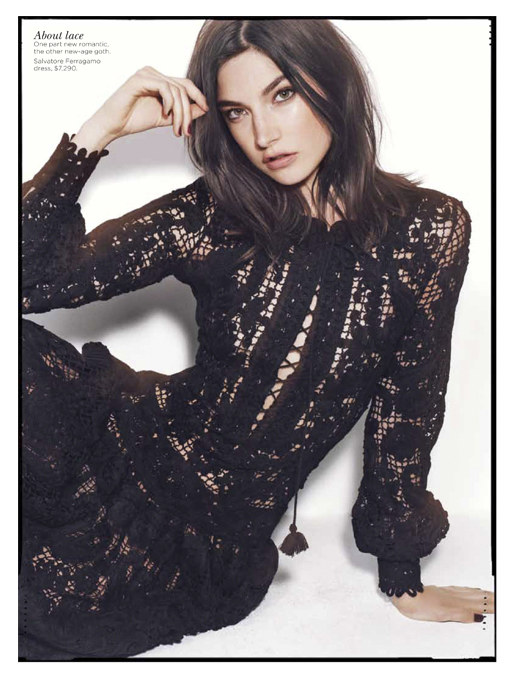 Jacquelyn Jablonski is Ready for Fall in Vogue Australia September 2012 by Benny Horne