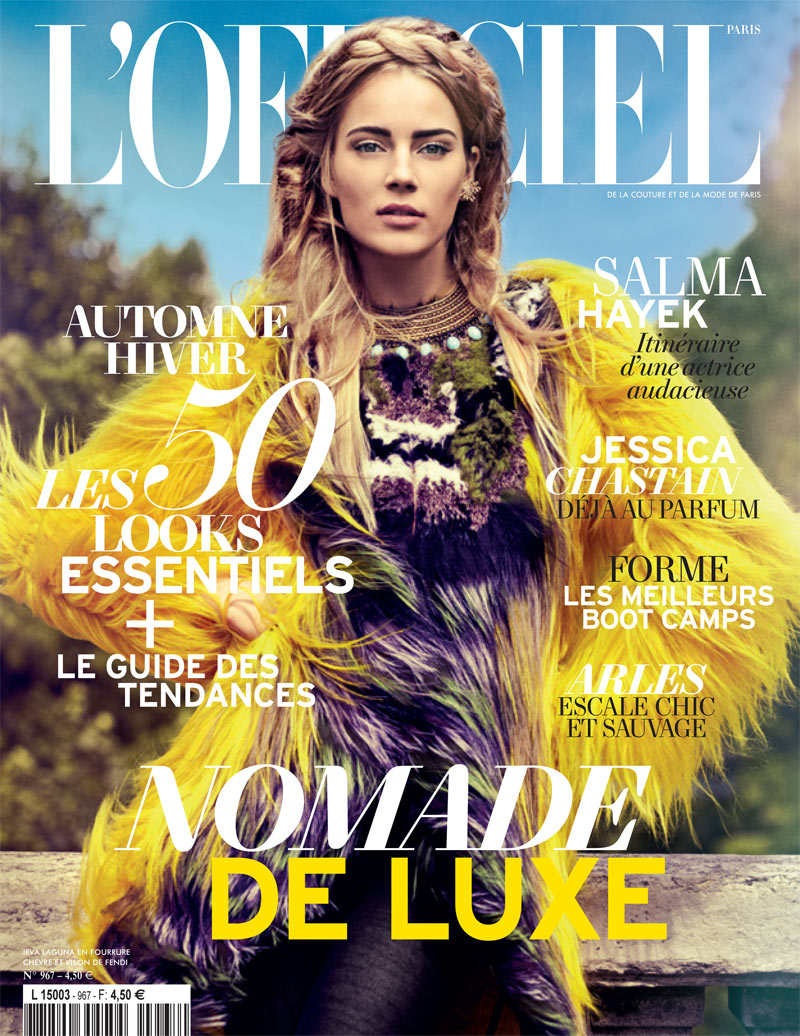 Ieva Laguna Wears Fendi for the August Cover Story of L'Officiel Paris by Alexander Neumann
