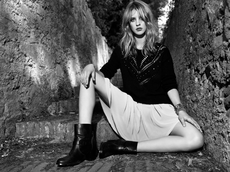 Julia Frauche Falls into Fantasy for Stradivarius' Fall 2012 Campaign
