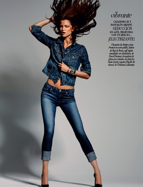 Kasia Struss is a Denim Girl in Vogue Mexico August 2012 by David Roemer