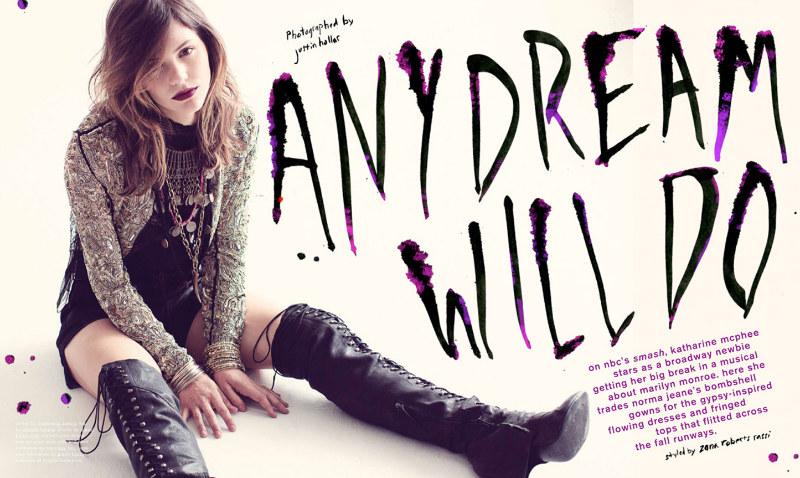 Katharine McPhee Goes Bohemian for Nylon September 2012 by Justin Hollar