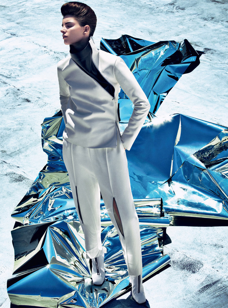 Ava Smith Dons Bold Fall Looks for Harper's Bazaar UK September 2012 by Sebastian Kim