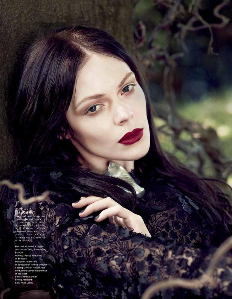 Kinga Rajzak Models Dreamy Beauty Looks for Vogue Japan September 2012
