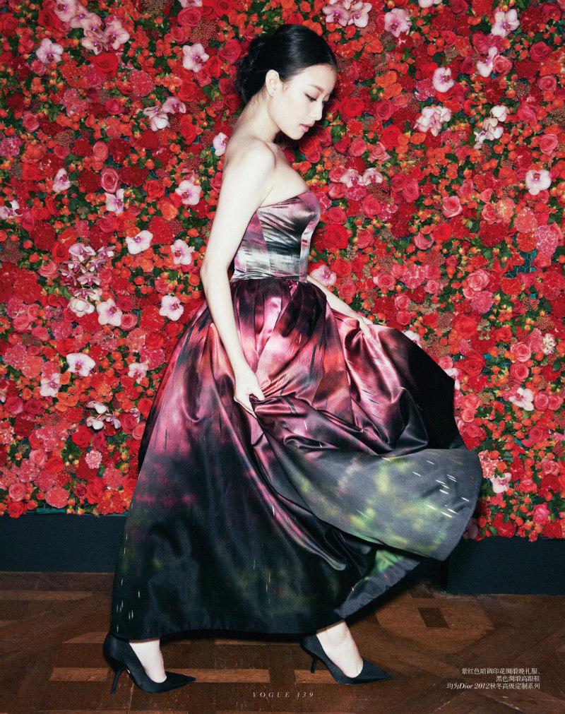 Ward Ivan Rafik Captures Actress Ni Ni in Dior Haute Couture for Vogue China September 2012