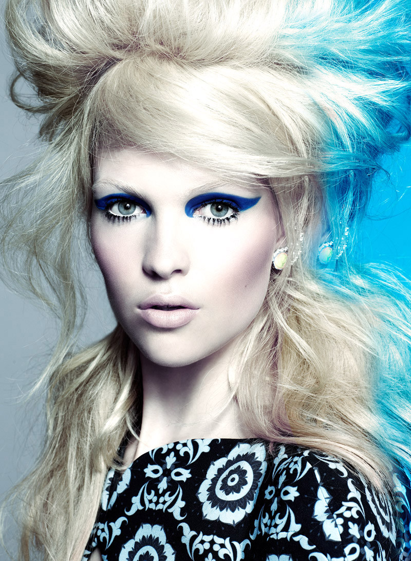 Jenna Earle & Amanda N Don Vivid Beauty Looks for Flare September 2012 by Chris Nicholls
