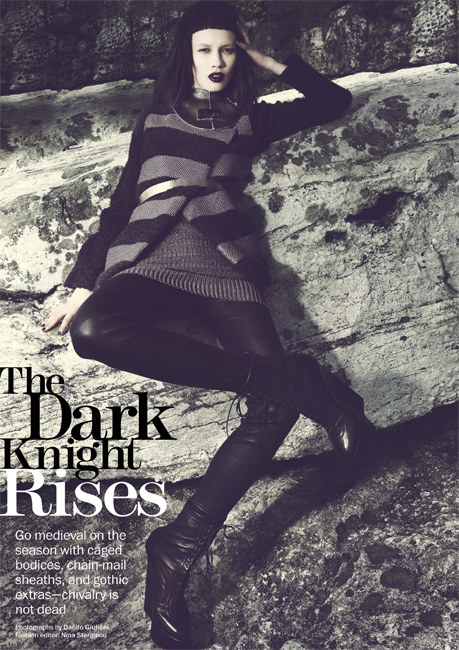 Ranya Mordanova Dons Gothic Ensembles for Fall in Marie Claire US' September Issue