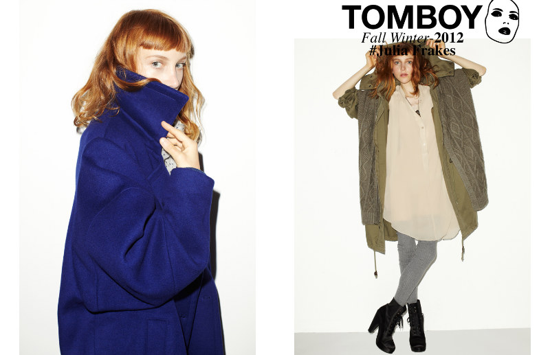 Julia Frakes Gets a Casual Edge in the TOMBOY F/W 2012 Campaign