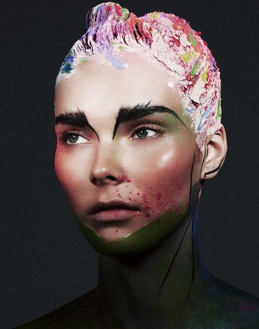 Julia Valimaki is a Work of Art for Wonderland September/October 2012 by Bjarne Jonasson