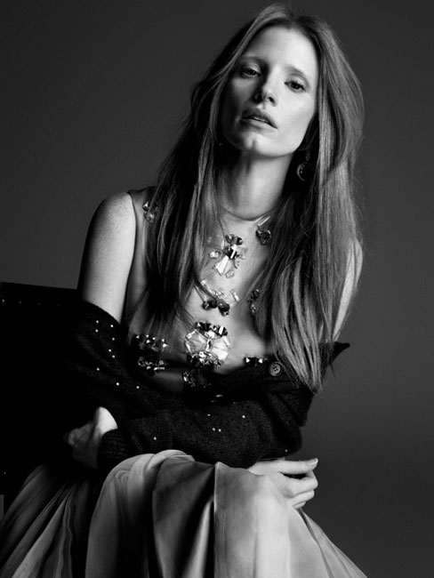 Jessica Chastain Impresses for the Cover Story of Crash Magazine by Blossom Berkofsky