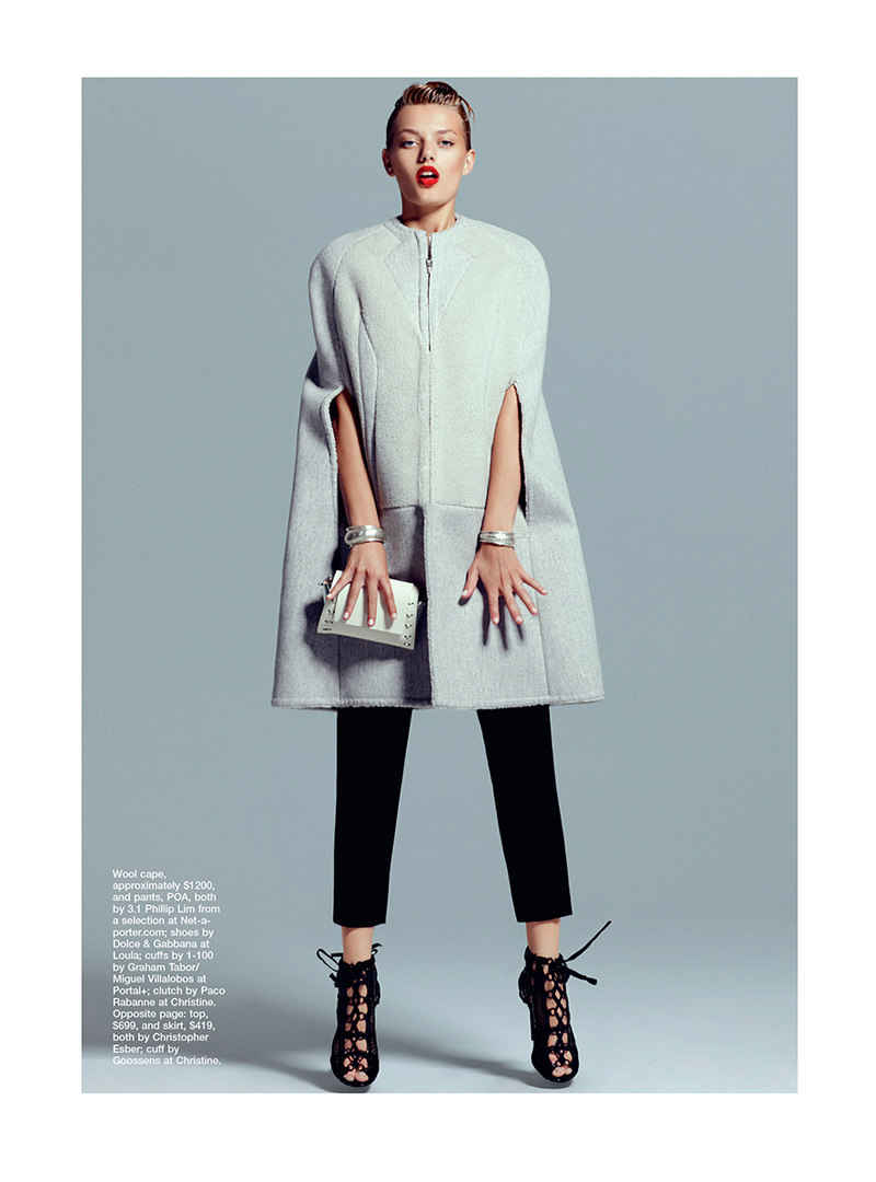 Bregje Heinen Shapes Up for Marie Claire Australia October 2012 by Kevin Sinclair