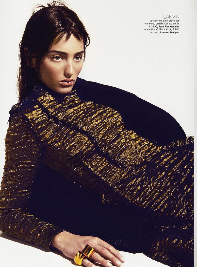 Kevin Sinclair Lenses Georgina Stojiljkovic in Fall's Standouts for Vogue Portugal October 2012