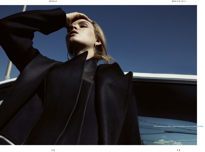 Josephine Skriver Takes the Driver's Seat for Benny Horne in Bon Magazine F/W 2012