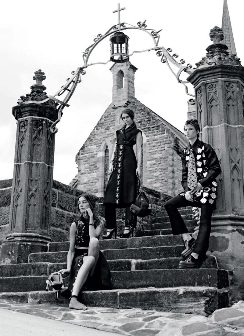Thom Kerr Captures a Conspicuous Trio of Schoolgirls for Black Magazine #17