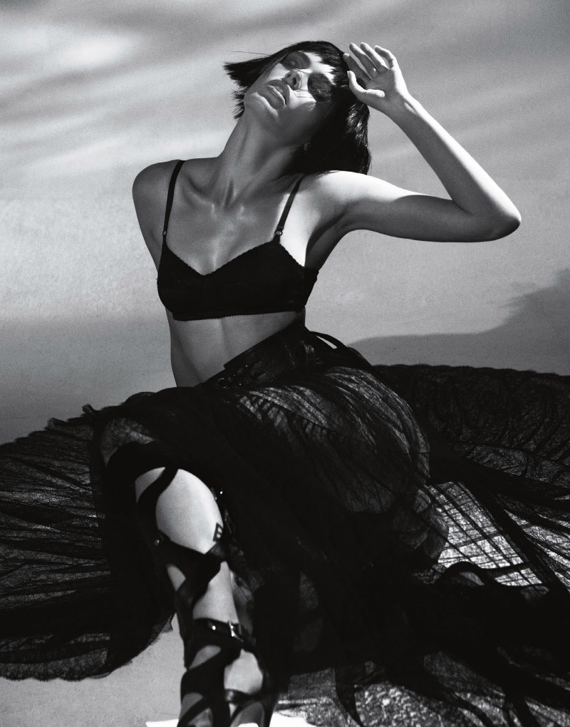 Madison Headrick Dons All Black for Vision China September 2012, Lensed by Seiji Fujimori