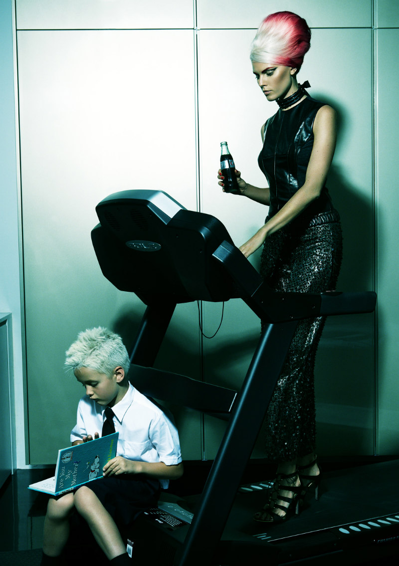 Maryna Linchuk Fronts a Fashionable Family for Allure October 2012 by Greg Kadel