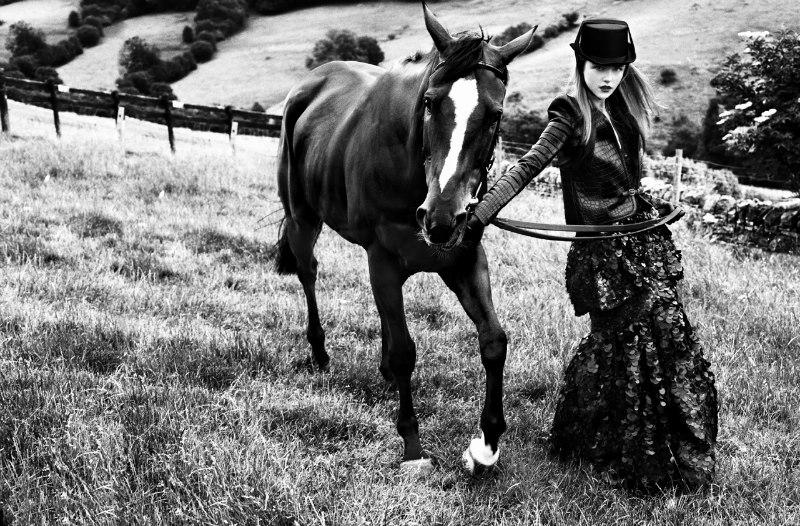 Rasa Zukauskaite Models Equestrian Fashion for Marie Claire Spain by Sergi Pons