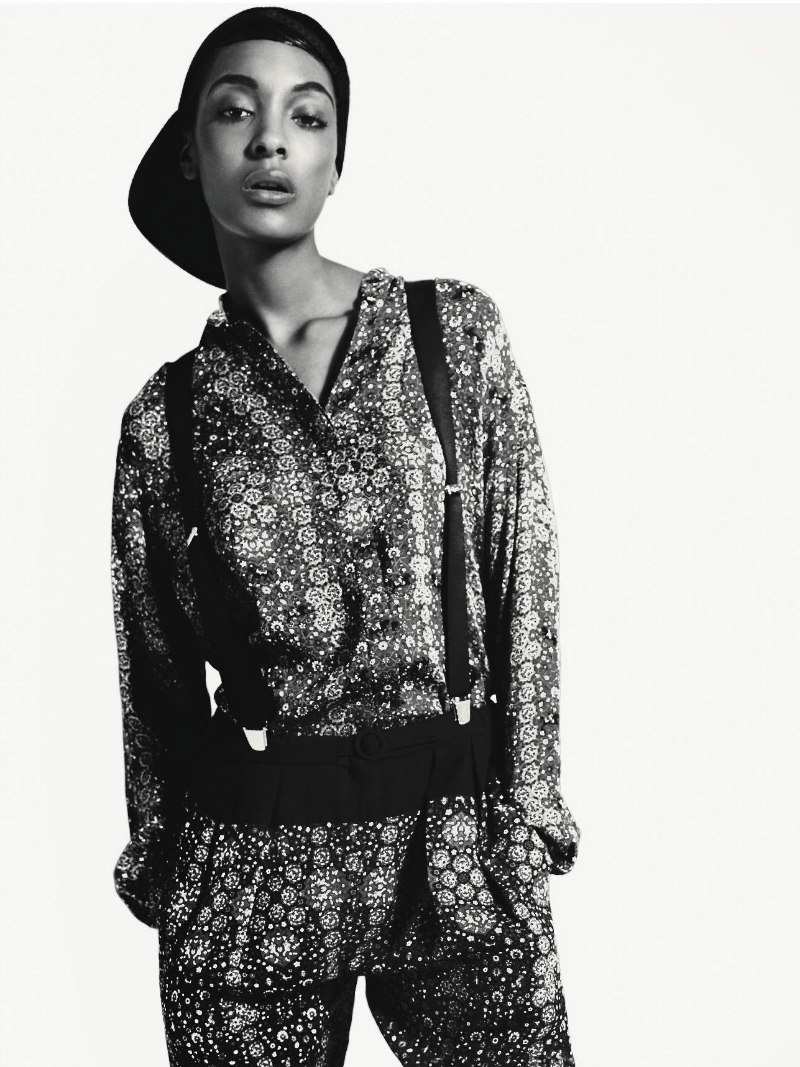 Jourdan Dunn is Pretty in Patterns for Vogue Russia October 2012 by Richard Bush