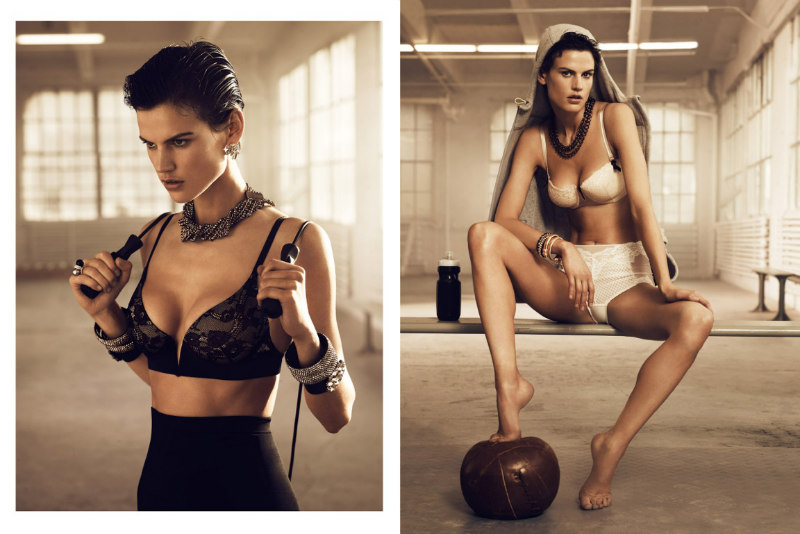 Saskia de Brauw Heats up the Gym for H&M Magazine Fall 2012, Lensed by Lachlan Bailey