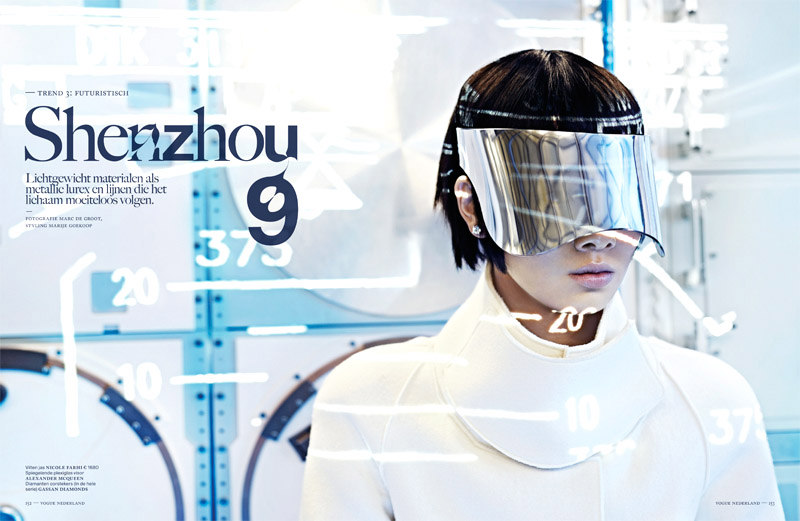 Grace Guozhi is a Vision of the Future in Vogue Netherlands September 2012 by Marc de Groot