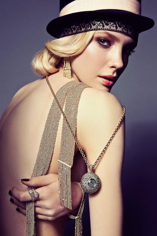 Sophie Srej Evokes Vintage Glamour for Harper's Bazaar China by Michelle Du Xuan