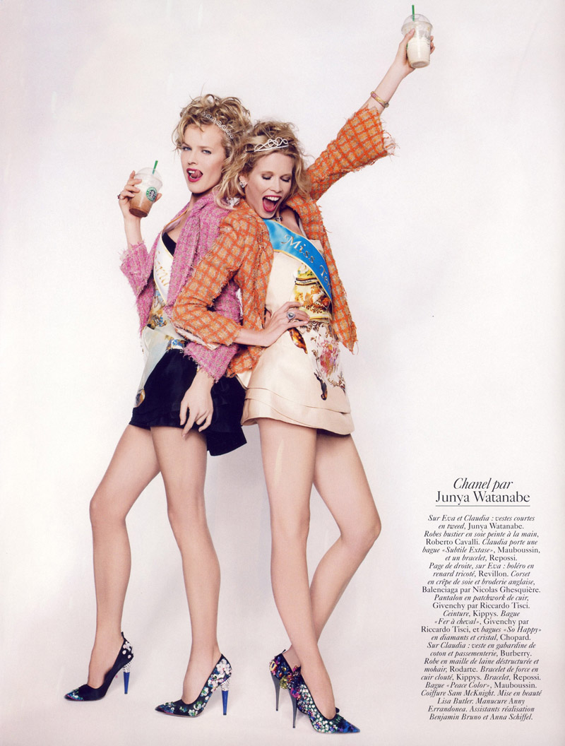 Eva and Claudia in Vogue Paris