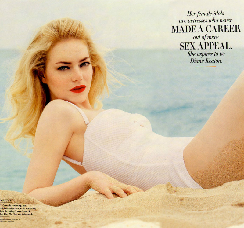 Emma Stone by Patrick Demarchelier for Vanity Fair August 2011