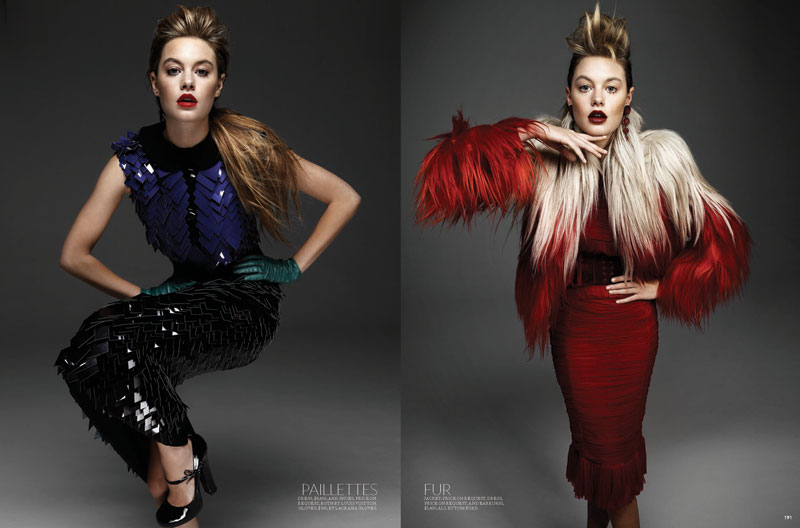 Camille Rowe by Gabor Jurina for Fashion September 2011