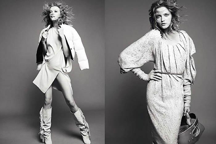 Vlada Roslyakova by David Vasiljevic for Elle UK September 2011