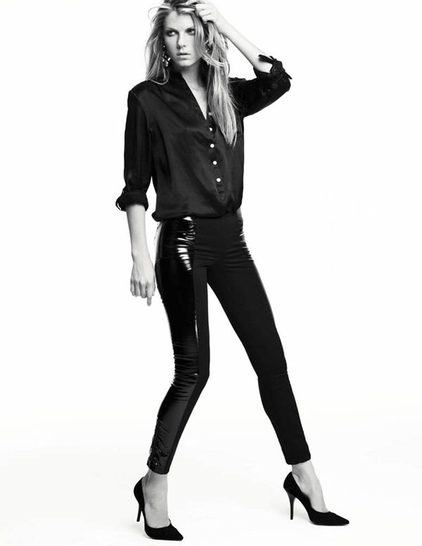 Angela Lindvall is 'Back in Black' for H&M Magazine Fall 2009