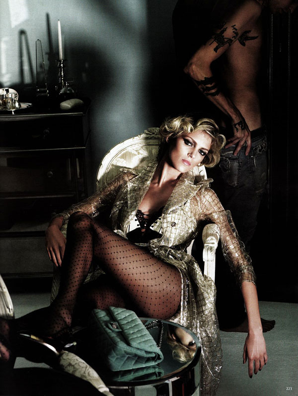 Anja Rubik Has A 'Dress to Thrill' for Vogue Germany September