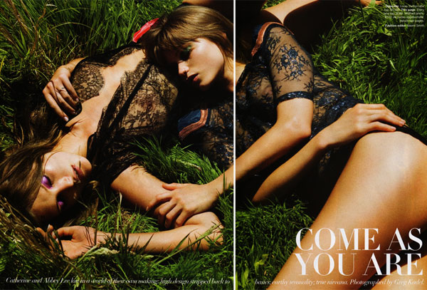 Come As You Are | Abbey Lee Kershaw & Catherine McNeil for Vogue Australia's 50th Anniversary Issue