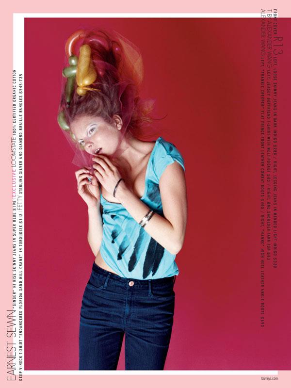 Barney's Fall 2009 Denim Co-Op Catalogue featuring Hanne, Eniko, Ranya & Tao