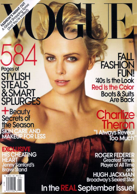 Vogue US September 2009 - Charlize Theron by Mario Testino