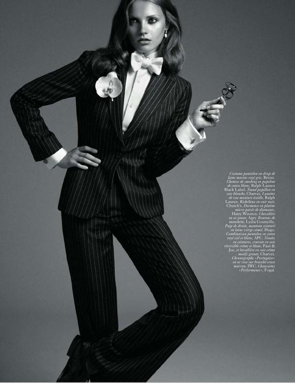 Anna Jagodzinska as Diane Keaton for Vogue Paris September