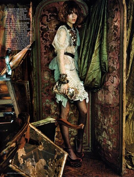 Freja Beha in Vogue UK by Javier Vallhonrat