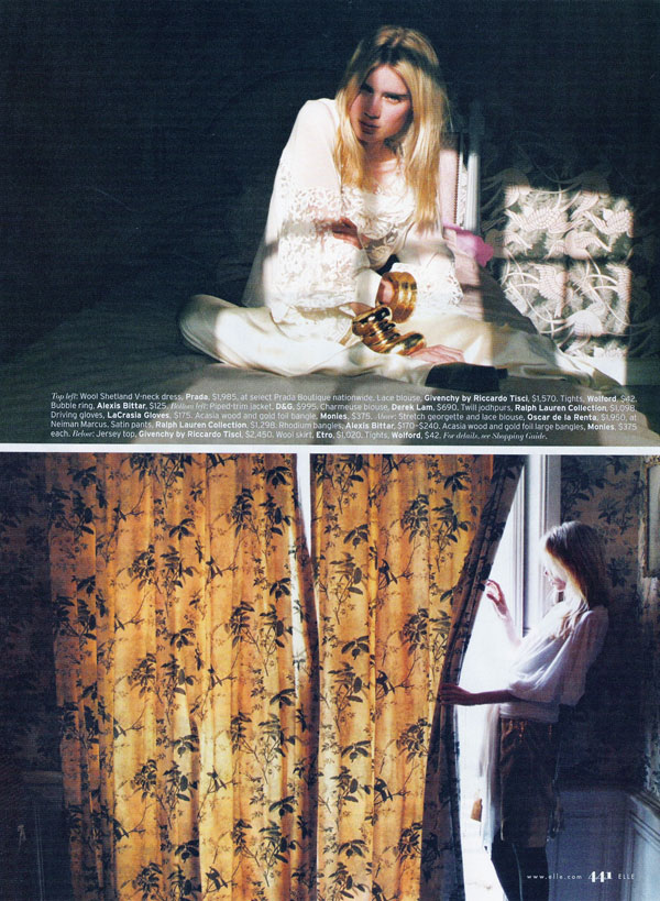 Age of Enlightment | Elsa Sylvan by Lina Scheynius for Elle