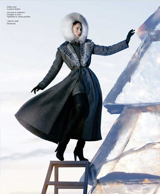 Campaign Preview | Raquel Zimmermann for Hermès Fall 2009 by Eric Valli