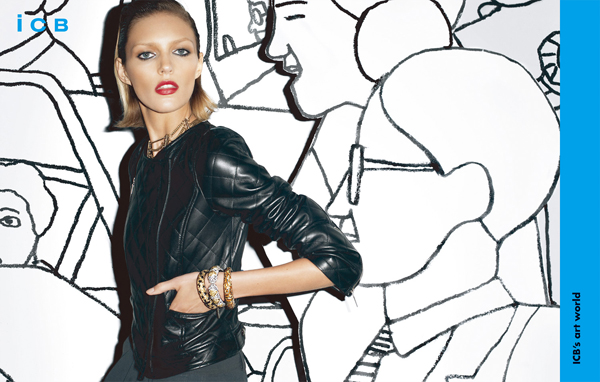 Campaign | Anja Rubik for iCB Fall 2009 by Terry Richardson
