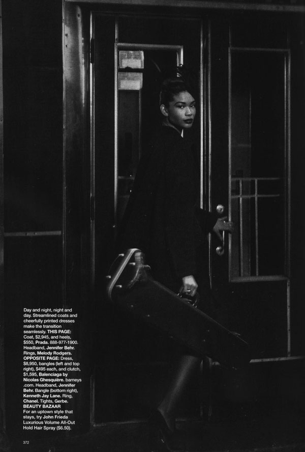 Fashion...And All That Jazz | Arlenis & Chanel by Peter Lindbergh for Harper's Bazaar US
