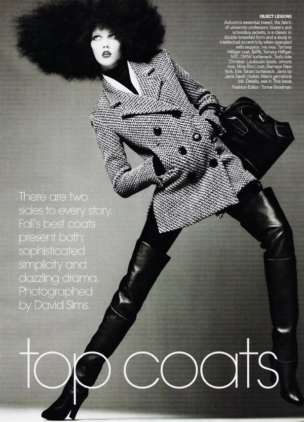 Top Coats - Karlie Kloss by David Sims for Vogue