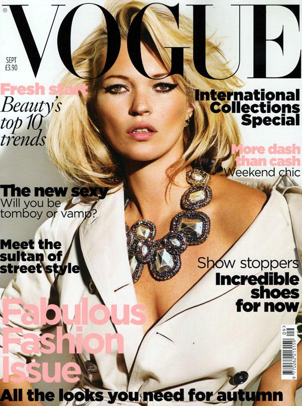 Vogue UK September 2009 - Kate Moss by Mario Testino